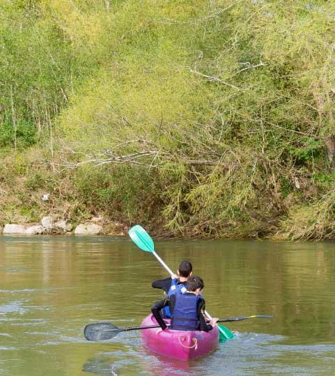 descenso canoas niños